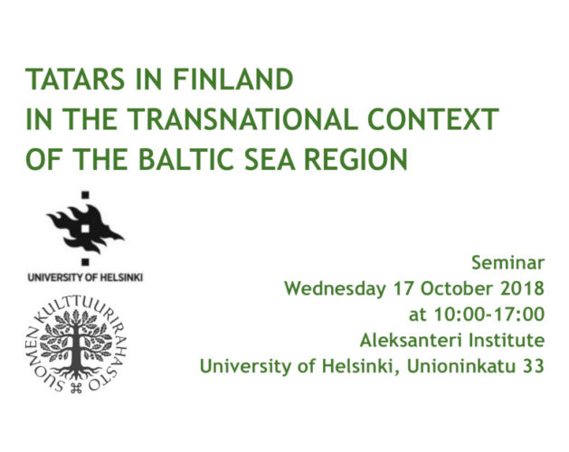 Tatar seminar in Helsinki 17 October 2018
