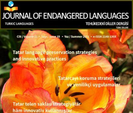 Tataarien kielistrategiat Journal of Endangered Languages-lehdessä